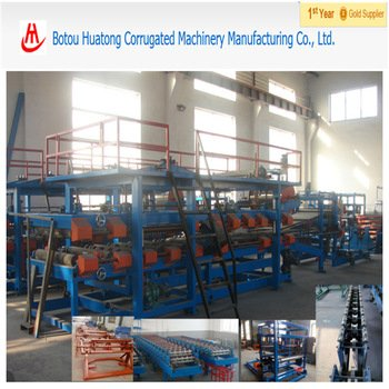 EPS colored steel sanwitch tile production line color roll forming machine for steel