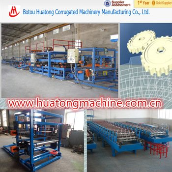 China Fully automatic multifunctional EPS colored steel sandwich roll forming machine