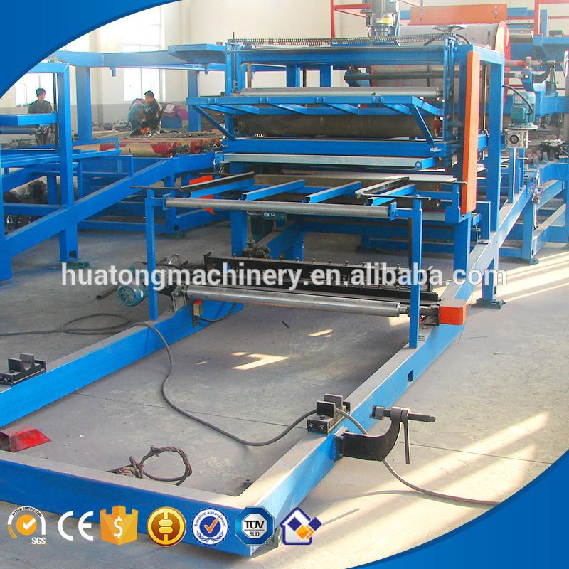 Hydraulic color steel sandwich panel machine production line price