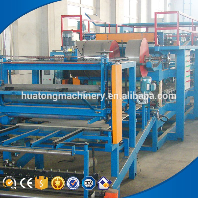 EPS roof and wall sandwich eps wall panel making machine