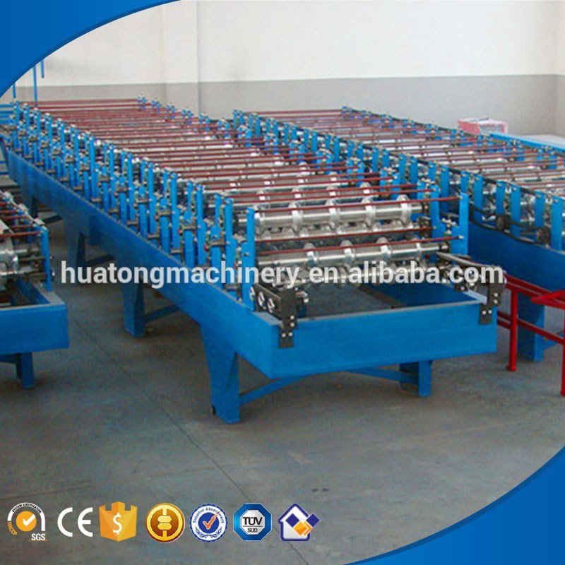 Multifunctional color steel color steel step tile roll forming machine