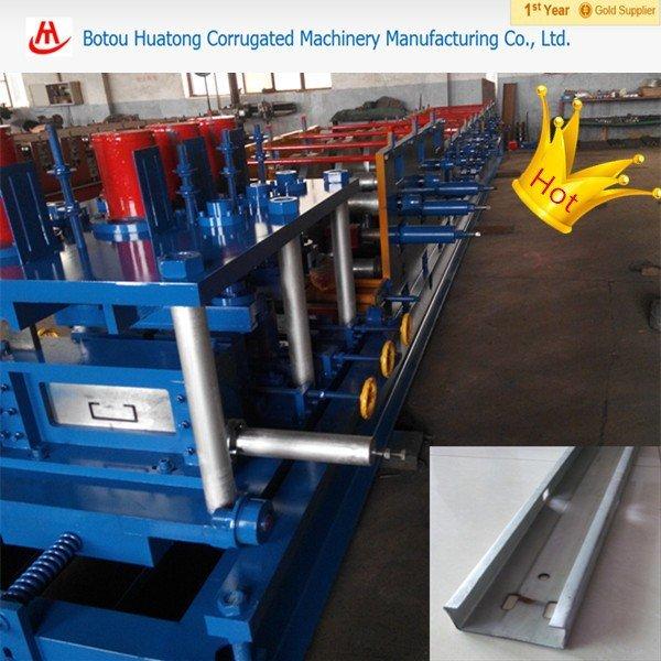 Building frame purline making machine