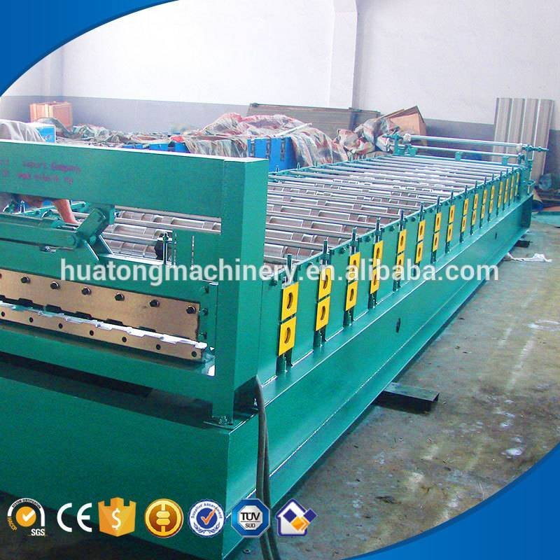 HT-860 colored steel roof tile panel fabrication machinery