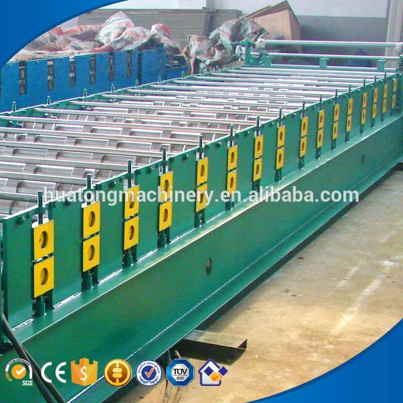 HT-900 colored glazed steel roof panel making machine