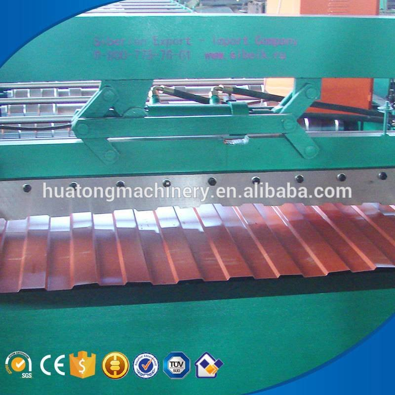Hot selling colored steel roll forming roof machine