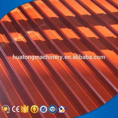 New HT-820/1025 double deck color steel roof tile machine